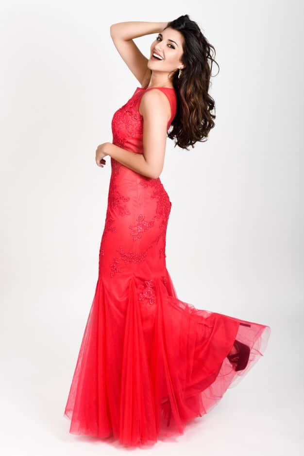 young-woman-wearing-long-red-dress-white-background