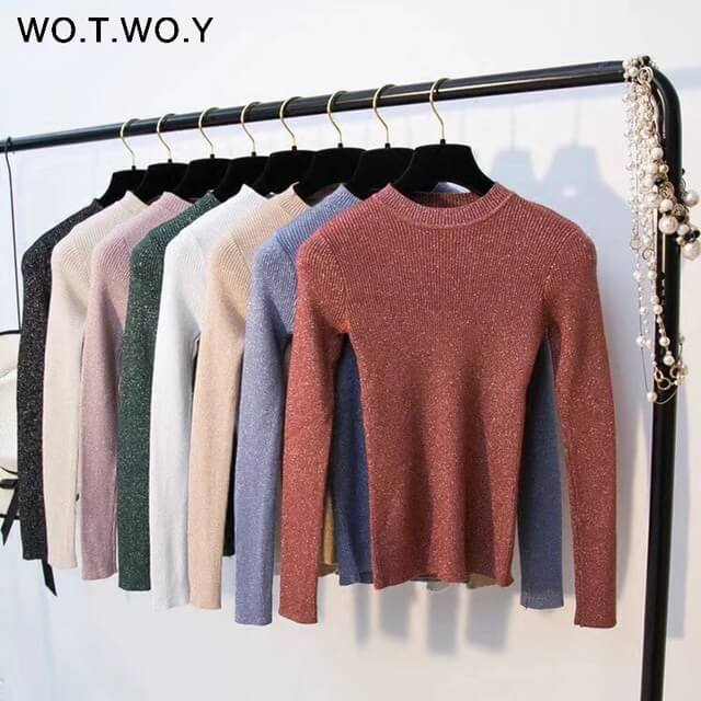 WOTWOY-Shiny-Lurex-Autumn-Winter-Sweater-Women-Long-Sleeve-Pullover-Women-Basic-Sweaters-Women-2018-Korean_0